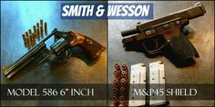 Smith And Wesson M&P45 Shield and Model 586 First Look Find our speedloader now!  http://www.amazon.com/shops/raeind