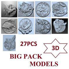 62pcs CNC 3D model engraving relief in STL carving №308 hunting fishing souvenir