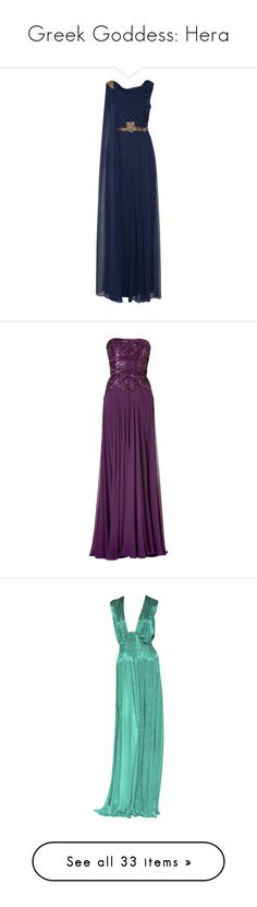 """""""Greek Goddess: Hera"""" by storycosmicjasmine ❤ liked on Polyvore featuring dresses, gowns, long dresses, vestidos, navy, navy blue long dress, navy blue evening dress, navy blue ball gown, blue sequin dress and long evening dresses"""