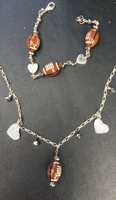 Football necklace & earrings