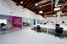 Exposed Ceiling and Open Plan Office #openplanoffice Cubicles.com