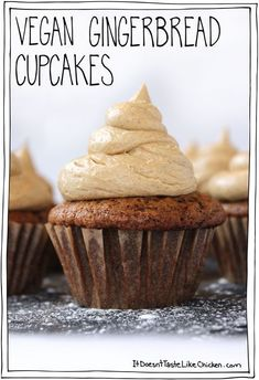 Gingerbread Cupcakes with Salted Caramel Gingerbread Frosting!