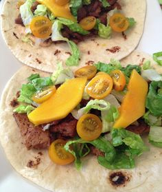 Soy-Lime Seitan Tacos with Mango and Chipotle Aioli