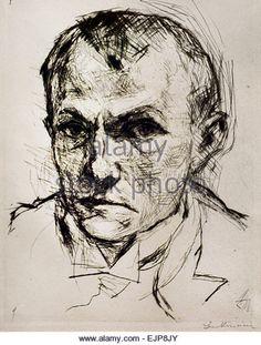 Self Portrait 1914 Max Beckmann 1884-1950 German Germany - Stock Image