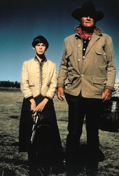 Kim Darby as Mattie Ross and John Wayne as Rooster Cogburn in True Grit (1969)