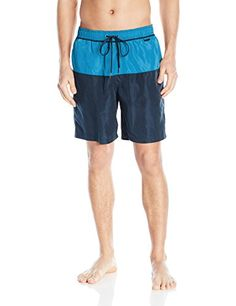 Introducing Calvin Klein Mens Color Block Volley Swim Trunk Fierce BlueMulti Medium. Great product and follow us for more updates!