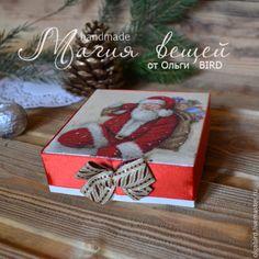 Новый год 2015 ручной работы. Ярмарка Мастеров - ручная работа Новогодние подвески ДЕД МОРОЗ (4шт). Handmade. Boxes, Gift Wrapping, Bird, Gifts, Handmade, Beautiful, Paper Wrapping, Presents, Hand Made