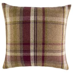 www.tesco.com/direct Plum Check Cushion £12