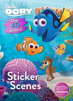 Finding Dory Sticker Scenes - Forgetful Dory is very happy living in the ocean with her friends, Marlin and Nemo. But one day, memories of her long-forgotten parents come flooding back to her. With the help of old friends and new, including Hank the octopus, can Dory finally discover her past? Read the story and complete the scenes with your stickers! ad