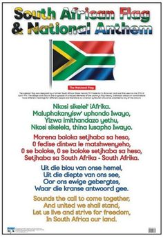 Sal dit moet leer Ken dit na 20 jaar nie African Life, African History, Anthem Lyrics, African Quotes, South African Flag, South Afrika, World Thinking Day, National Anthem, My Land