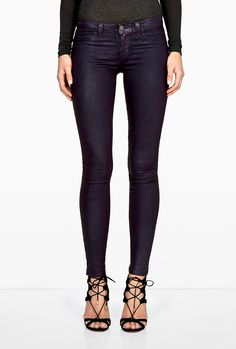 Textured Coated Mulberry Low Rise Coated Legging by J Brand ❤️