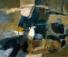 AFRO. Sans titre,1955, huile sur toile, 50 x 60 cm