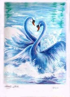 Swan Painting, China Painting, Acrylic Painting Techniques, Whimsical Art, Bird Art, Belle Photo, Beautiful Birds, Animal Drawings, Painting Inspiration