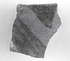 Sherd  Period:Chalcolithic Date:5th–4th millennium B.C. Geography:Iran, Nishapur Culture:Iran Medium:Ceramic, paint Dimensions:2.2 x 0.2 in. (5.59 x 0.51 cm) Classification:Ceramics-Vessels