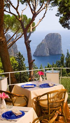 Il Geranio, Capri, Italy- great food and service- imagine this view for lunch or dinner?