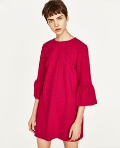 Image 2 of DRESS WITH FRILLED SLEEVES from Zara