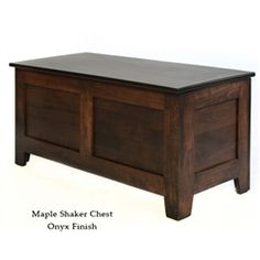 Maple Shaker Chest - love that you can order a custom size for a king-sized bed! Harmonycedar.com