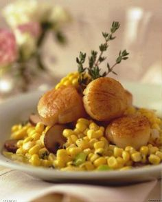 Sea Scallops with Fresh Corn Ragout