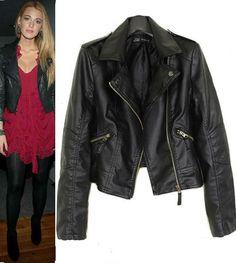 #Black #Soft PU Slim #Jacket US$39.99 #sheinside
