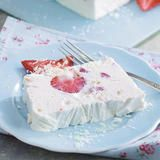 Strawberry, White Chocolate and Almond Semifreddo, a delicious recipe from the new Cook with M&S app.