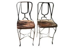 Metal School Chairs, Pair on OneKingsLane.com