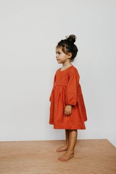 the Gathered Dress in Flannel - ewmccall Toddler Fashion, Girl Fashion, Cute Dresses, Girls Dresses, Boy Outfits, Cute Outfits, Cute Maternity Outfits, My Baby Girl, Baby Baby