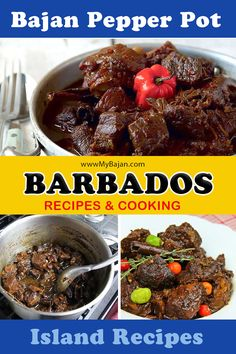 """This dish was probably the one that African slaves cooked mostly on festive occasions like """"Crop Over"""". Traditionally it is cooked in a canaree or earthenware pot. Try this Pepper Pot recipe. Pepperpot Recipe, Bajan Recipe, Crop Over, Island Food, Yummy Food, Delicious Recipes, Barbados, Earthenware, The Best"""
