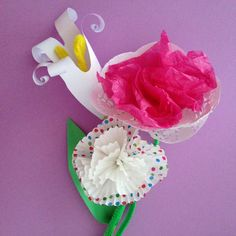 Handmade #paperflowers for kids - by Paperlab