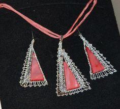 Paličkovaná souprava Lace Jewelry, Jewellery, Lace Heart, Bobbin Lace, Lace Detail, Butterfly, Silver, Pattern, Inspiration