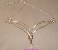Anillo de perla de agua dulce y celta por UnfauxgettableDesign