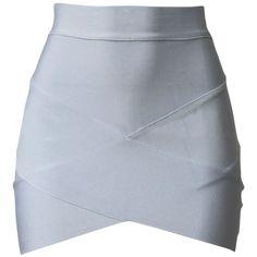 Dresses White Asymmetric Celebrity Inspired Bodycon Bandage Fashion... (255 BRL) ❤ liked on Polyvore featuring skirts, bottoms, saias, faldas, white bandage skirt, white bodycon skirt, bodycon maxi skirt, body con skirt and bodycon skirt