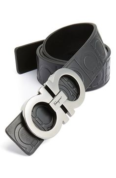 f59dc7e7b5f8 Salvatore Ferragamo Calfskin Leather Belt available at  Nordstrom Ceinture  De Marque, Ceintures, Ceinture