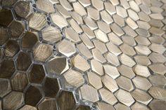 Metal mosaics by Porcelanosa