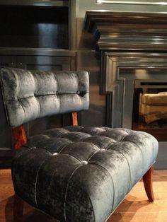 Meredith Heron Design Tufted Klismos Chair #Hurndale