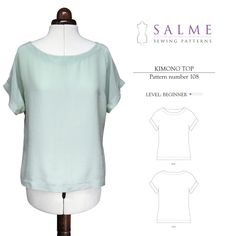 Digital Sewing Pattern - Kimono Top