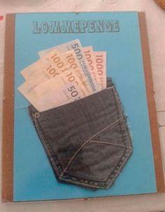 Skal du til konfirmation og mangler du inspiration til pengegaver til konfirmanden - så se med her! Homemade Cards, Homemade Gifts, Diy Gifts, Paper Cards, Diy Cards, Creative Money Gifts, Diy Projects To Try, Cool Diy, Customized Gifts
