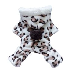 Adorable Leopard Dog Coat for Dog Hoodie Dog Clothes Soft Cozy Pet Clothes  Small. More descripiton on the website.