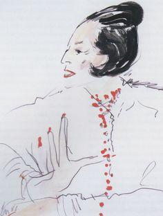 Raina Kattelson Diana Vreeland by Joe Eula