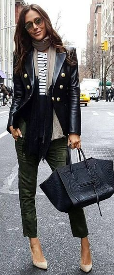 #streetstyle #spring2016 #inspiration | Balmain Jacket on Stripes | Lindsi Lane