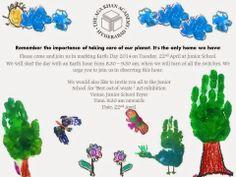 Earth day invitation card