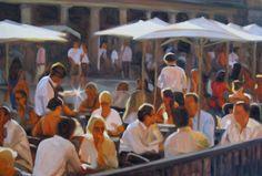 Iain Vellacott - Covent Garden en la Galería Riverside Barnes, Londres en noviembre.
