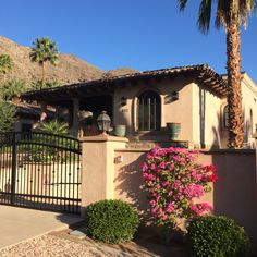Spanish revival architecture with a subtle palette in Palm Springs.  #vacation www.allisonsmithdesign.com