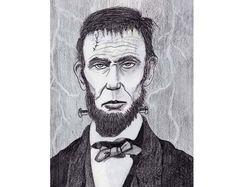 "8x10"" Franken-Lincoln print for sale!"