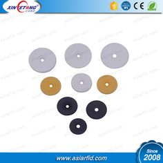 Diameter 30mm ABS material 13.56MHz N-TAG213 NFC Disc Tag with adhesive