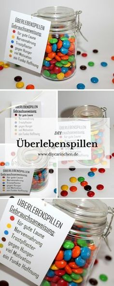 The perfect gift idea for any occasion: DIY Mason Jar Survival Pills + {with Free Printable} - DIY Geschenke - Geschenkideen Pot Mason Diy, Mason Jar Crafts, Mason Jars, Diy Birthday, Birthday Presents, Diy Gifts For Christmas, Advent Calendar Gifts, Farewell Gifts, Guest Gifts