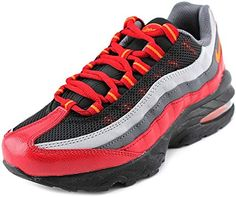 finest selection a23e0 ea06c Buy Nike Air Max 95 Big Kids Style Shoes   307565, Black Hyper Crimson-Dark  Grey-Gym Red, 6 online