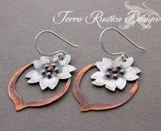 Cherry blossom earrings - terrarusticadesign.com