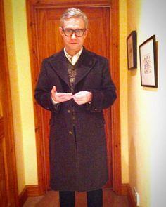 Martin Freeman wearing his new #derossi #dnagroove overcoat