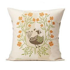 Look what I found at UncommonGoods: birds and blooms pillows - individual states... for $80 #uncommongoods
