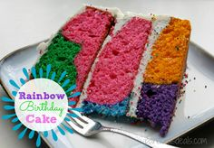 Rainbow-Birthday-Cake - Kids love rainbows, right? And they love cake (obvious). Put the two together, and you've got a happy birthday party in the making. This rainbow cake made from a box, shown by Lindsay Frank, will amaze you with its simplicity. Cheesecakes, Buttercream Icing Cake, Rainbow Sprinkles, Rainbow Cakes, Thing 1, Box Cake Mix, Round Cake Pans, Rainbow Birthday, Cake Plates